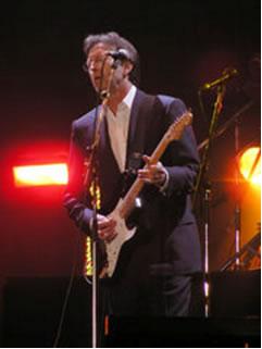 Eric Clapton at the Tsunami Relief concert in Cardiff's Millennium Stadium, 22 January 2005